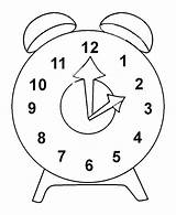 Clock Coloring Outline Pages Printable Alarm Bus Smiling Tocolor sketch template