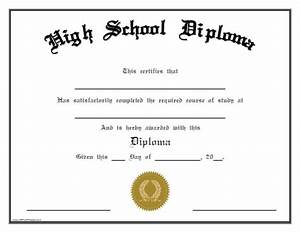 25 high school diploma templates free download With high school diploma certificate fancy design templates