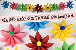 Fleur De Papier : guirlande de fleurs en papier activit s enfantines 10 ~ Farleysfitness.com Idées de Décoration