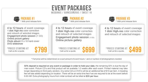 Event Prices And Packages — Hp Snapworks Photography