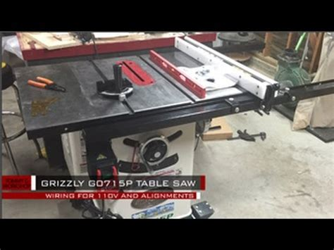 grizzly gp table  wiring  alignment youtube