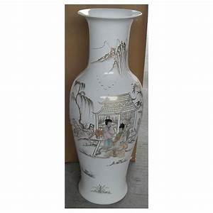 Grand Vase Blanc : grand vase chinois blanc incrust nacre meubles ~ Preciouscoupons.com Idées de Décoration