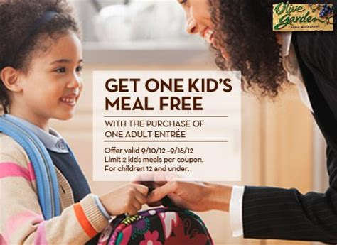 olive garden eat free olive garden kid s eat free with one purchase