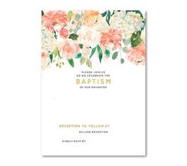 save the date ideas free floral baptism invitation template dolanpedia