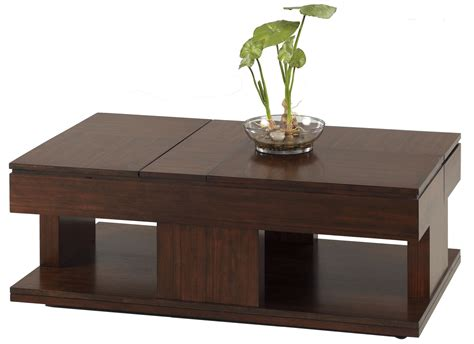 Double Lift Top Coffee Table In Regal Walnut  Roy Home Design