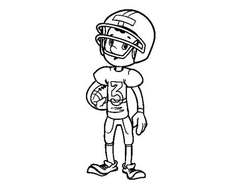 Rugby Kleurplaat by Rugby Player Boy Coloring Page Coloringcrew