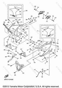 Yamaha Motorcycle 2013 Oem Parts Diagram For Cowling 2