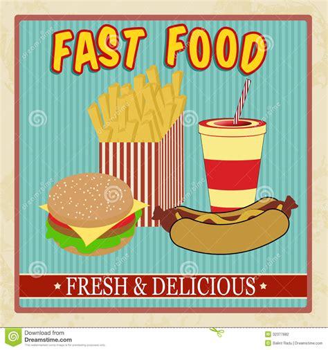 vintage cuisine vintage fast food menu stock vector illustration of