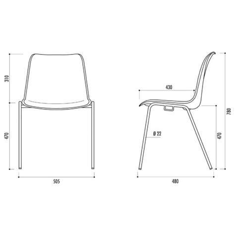 mesure d une chaise chaise de collectivité empilable hawai chaise de collectivité empilable type coque spark office