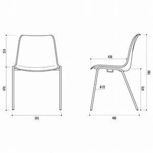 Chaise de collectivité empilable HAWAI, chaise de collectivité empilable type coque : Spark Office