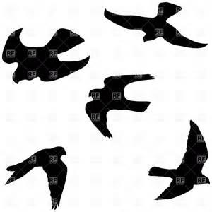 Flying Falcon Silhouette Clip Art