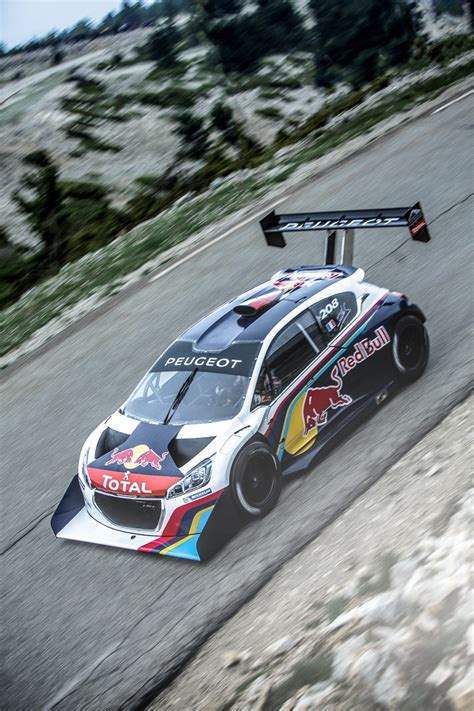pikes peak record smashing peugeot   headed