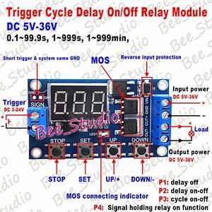 Dc 5v 9v 12v 24v Adjustable Timing Delay Timer Turn On  Off