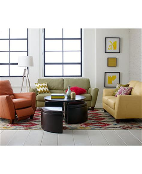 Living Room Furniture At Macy S by Furniture Almafi Leather Sofa Living Room Furniture