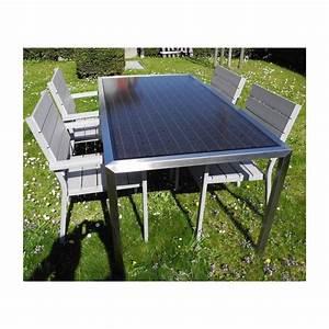 Table Jardin 8 Personnes : solaire table de jardin 8 personnes 310 watt solarenergy shop ~ Teatrodelosmanantiales.com Idées de Décoration