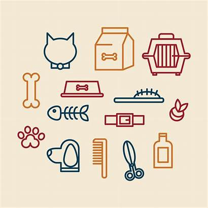 Grooming Icons Pet Vector Graphics Clipart System