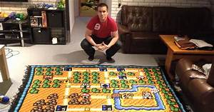 This Man Spent 6 Years Crocheting a Super Mario Bros Map ...