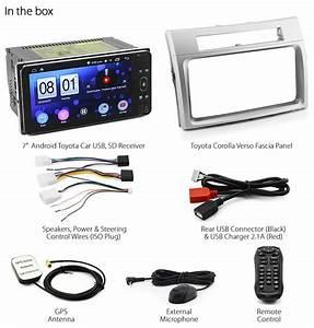 7 U0026quot  Android Car Mp3 Player Toyota Corolla Verso Head Unit Radio Stereo Fascia Kit