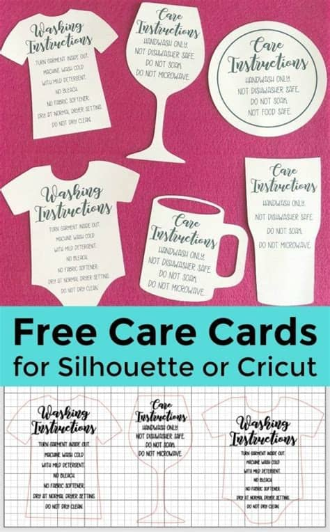 Instantly download this printable thank you/clothing care instructions. To do with my Silhouette 101 skills | Cricut tutorials ...