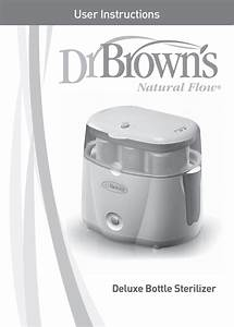 Dr  Brown U0026 39 S Deluxe Bottle Sterilizer User Manual