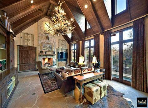 great room   texas hill country style home  designed  built  pr hill country