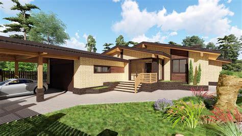 Одноэтажные Дома Проекты Из Кирпича Фото