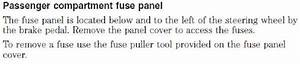 Solved  2003 Crown Victoria Fuse Box Diagram