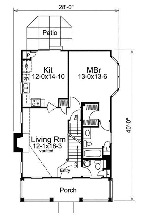 small lot house plans country appeal for a small lot 57027ha 1st floor