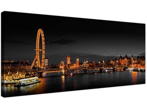 panoramic canvas wall art  london eye  night