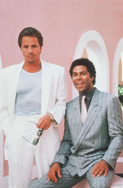 don johnson as sonny crockett philip michael as tubbs in miami vice 1984 89 nbc