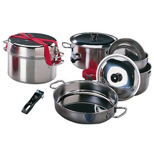 accessoires cuisine inox popote inox 9 pieces accessoires cuisine camping car