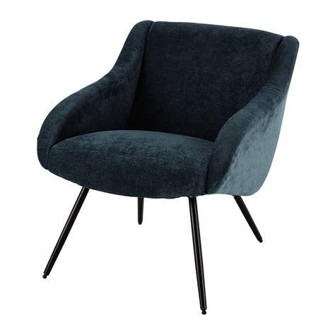 fauteuil vintage en tissu bleu joyce maisons du monde