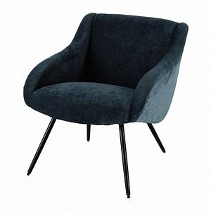 Fauteuil Vintage Maison Du Monde : fauteuil vintage en tissu bleu joyce maisons du monde ~ Teatrodelosmanantiales.com Idées de Décoration