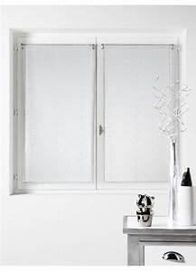 Kit Rayure Vitrage : paire de vitrages en organza rayures argent es blanc ~ Premium-room.com Idées de Décoration