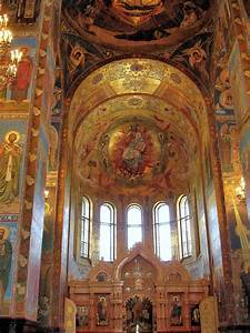 Inside Church On Spilled Blood In Saint Petersburg  Russia