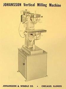 Johansson Vertical Milling Machine Parts Manual