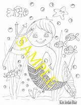 Merman Coloring Friends sketch template