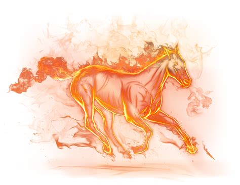 Beautiful Fire Horse Png Clipart Picture Gallery