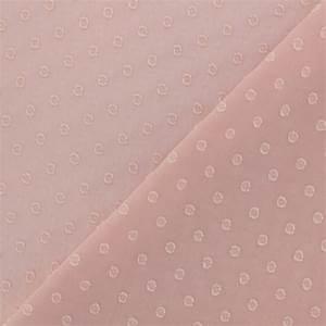 Tissu Rose Poudré : tissu mousseline plumetis rose poudr x 50 cm ~ Teatrodelosmanantiales.com Idées de Décoration