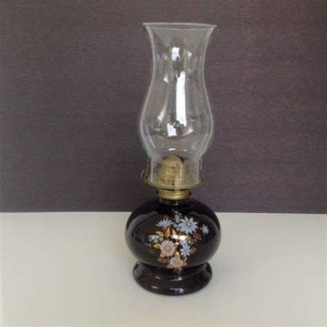 llight farms oil l vintage black glass hurricane chimney