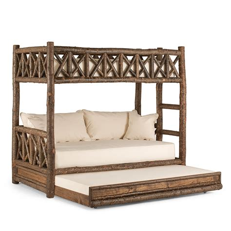 designer bunk beds rustic bunk bed with trundle la lune collection