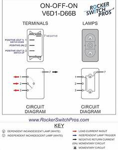 On Off On Rocker Switch