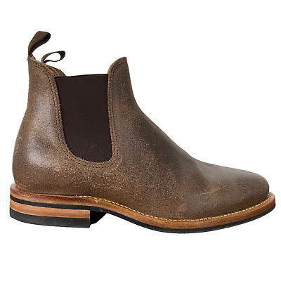 Viberg x 3sixteen Natural Waxed Flesh Chelsea Boot 2050 ...