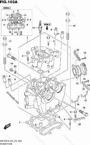 Suzuki Motorcycle 2019 Oem Parts Diagram For Cylinder Head