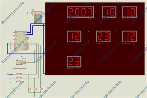 Digital Calendar With Temperature Indicator Using
