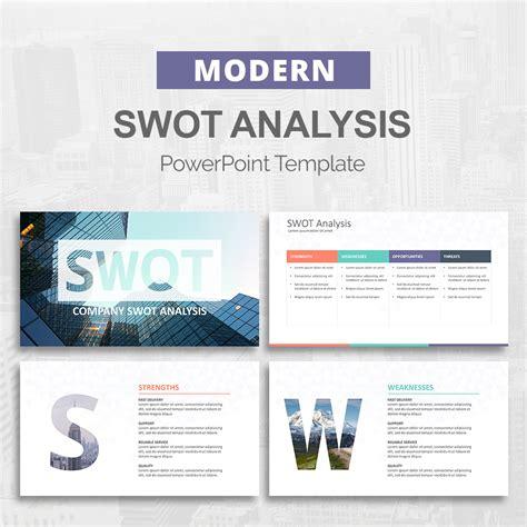 swot analysis powerpoint template slideson