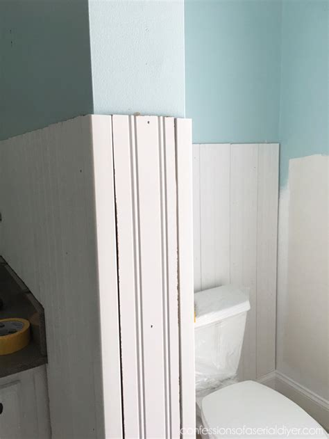 How To Cut Wainscoting by How To Install Wainscoting Confessions Of A Serial Do It