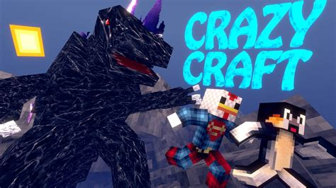 minecraft crazycraft orespawn modded survival ep  mobzilla boss battle youtube
