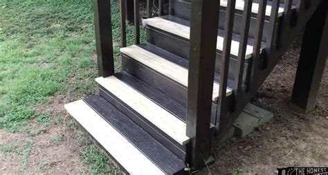 replace deck stair treads  honest carpenter