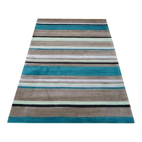 teal runner rug blue inspire broad stripe rug carpet runners uk